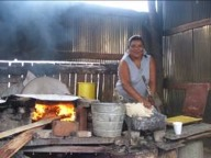 Gabina making tortillas yatareni