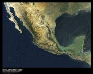 Mexico space map